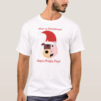 Moo-y Christmas and Happy Hoggy Days! T-Shirt