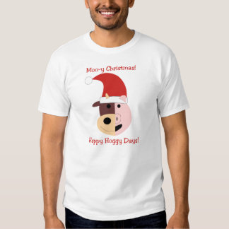 Moo-y Christmas and Happy Hoggy Days! T-shirts