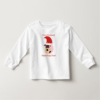 Moo-y Christmas and Happy Hoggy Days! Toddler T-shirt