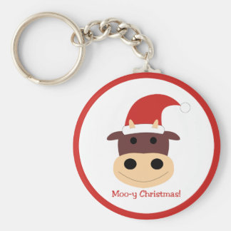 Moo-y Christmas! Holiday gifts and cards Key Chains