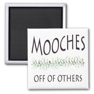 Mooches off of others 2 inch square magnet