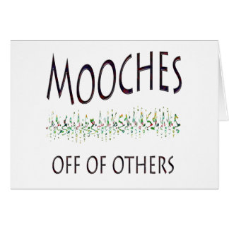 Mooches off of others card