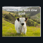 """Moochi The Mini Cow 2018 Calendar<br><div class=""""desc"""">Get a special greeting every month from Moochi the Mini Cow! Enjoy the beautiful photography and endless fluff that will guide you through all of 2018 in adorable style!</div>"""