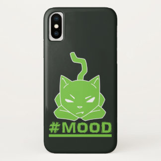 #Mood Cat Green Illustration iPhone X Case