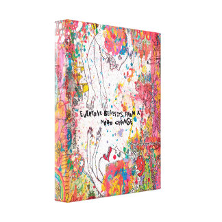 Mood Change Contemporary Canvas Print 11'' by 14''