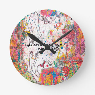 Mood Change Contemporary Wall Clock