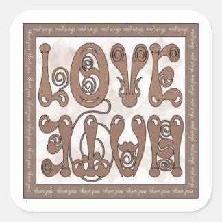 MOOD SWING LOVE - HATE SQUARE STICKER