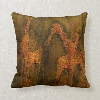 Moods Of Africa - Giraffes Art Designer Pillow