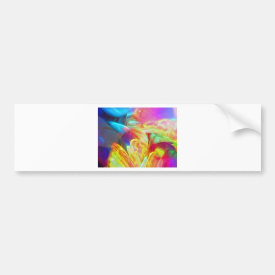 Moods of Motion Colorful Abstract Bumper Sticker