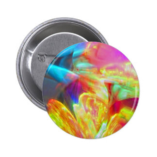 Moods of Motion Colorful Abstract 2 Inch Round Button
