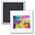 Moods of Motion Colorful Abstract Refrigerator Magnet