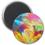 Moods of Motion Colorful Abstract Refrigerator Magnets