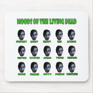 Moods of the living dead mouse pad