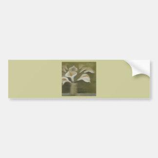 Moody Arum Calla's In A Vase Bumper Sticker