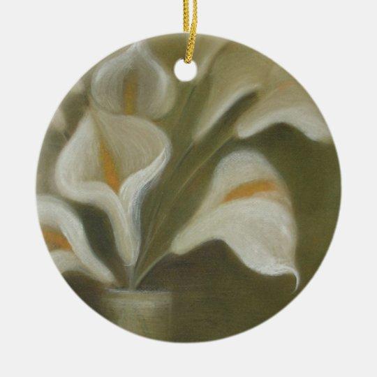 Moody Arum Calla's In A Vase Ceramic Ornament