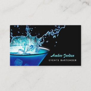 Edgy business cards templates zazzle moody blue beverage splash edgy events bartender business card m4hsunfo