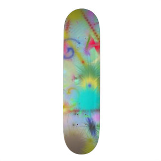 Moody Blue Thoughts Teal Blue Green Color Abstract Skateboard