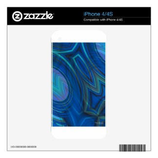Moody Blues Abstract iPhone cases iPhone 4 Skin