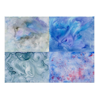 Moody Blues Interactive Abstract Art Poster