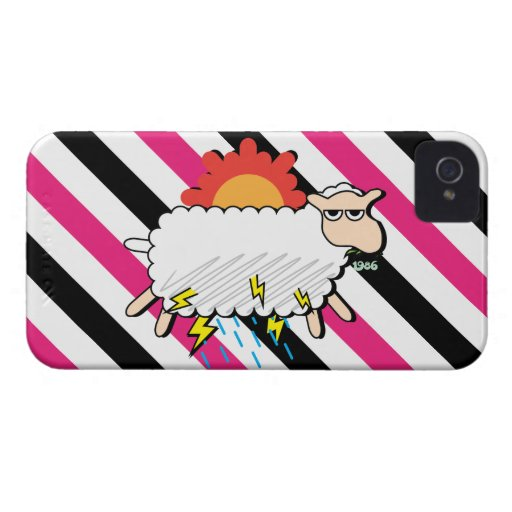 Moody Cloudy Sheep Funny iPhone 4 Case