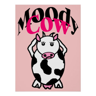 Moody Cow Poster