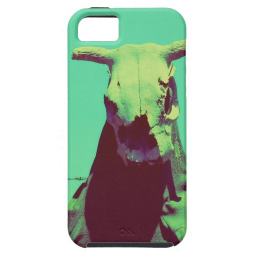 Moody Cow Skull iPhone 5 Cover