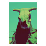 Moody Cow Skull Posters