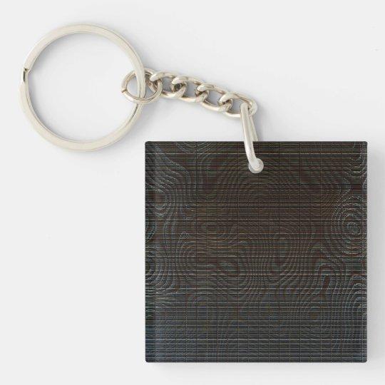 Moody Dark Abstract Pattern Keychain