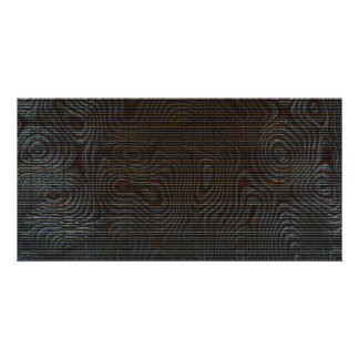 Moody Dark Abstract Pattern Photo Card