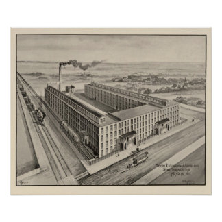 Moody Estabrook & Andersons Shoe Manufacturers Poster