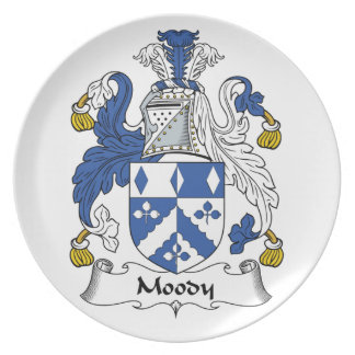 Moody Family Crest Party Plates