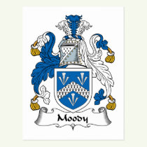 Moody Family Crest Postcard