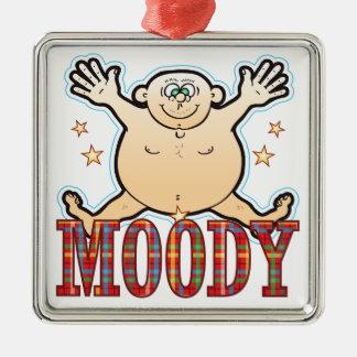 Moody Fat Man Metal Ornament