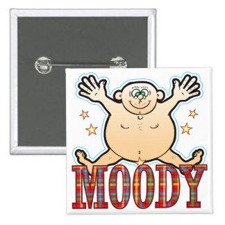 Moody Fat Man Pinback Button
