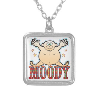 Moody Fat Man Silver Plated Necklace