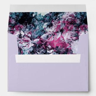 Moody Modern Floral Envelope