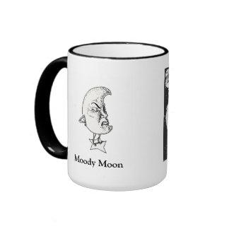 Moody Moon by April Robbins Ringer Mug