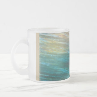 Moody Ocean Breeze Frosted Glass Coffee Mug