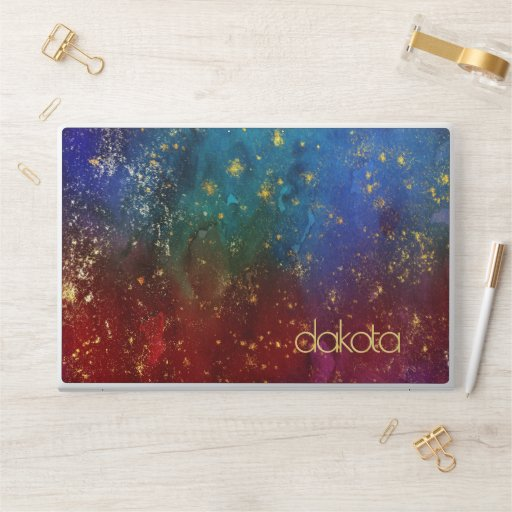 Moody Ombre | Psychedelic Grunge Stardust Monogram HP Laptop Skin