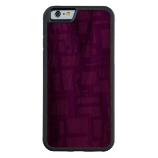 Moody Purple Abstract Art Carved Walnut iPhone 6 Bumper Case