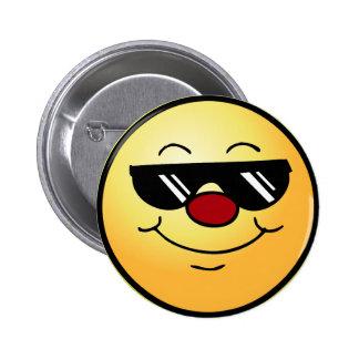 Moody Smiley Face Grumpey Button