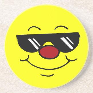 Moody Smiley Face Grumpey Drink Coaster