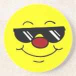 Moody Smiley Face Grumpey Drink Coasters