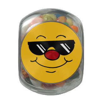 Moody Smiley Face Grumpey Jelly Belly Candy Jars