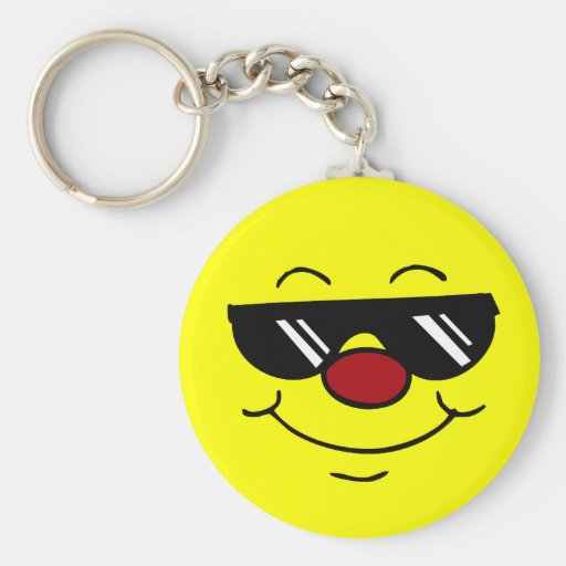 Moody Smiley Face Grumpey Key Chain