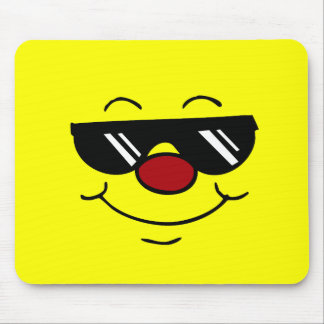 Moody Smiley Face Grumpey Mouse Pad