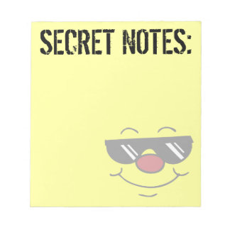 Moody Smiley Face Grumpey Notepad