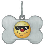 Moody Smiley Face Grumpey Pet ID Tag