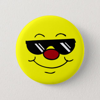 Moody Smiley Face Grumpey Pinback Button