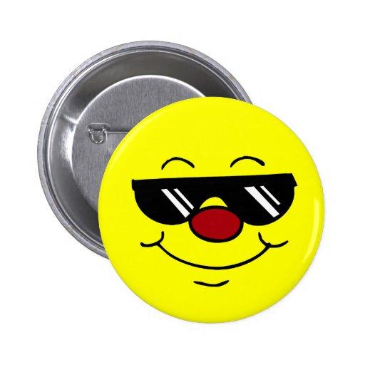 Moody Smiley Face Grumpey Pinback Button